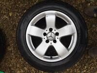 Mercedes alloy wheels and nearly new tyres