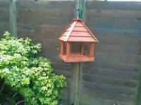 Hand made hanging bird table with optional stand