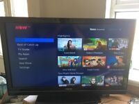 "Toshiba 40"" 1080p HDTV with now tv box and remote"