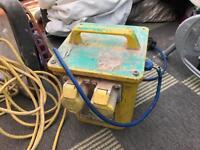 110v yellow power convertor and 110v light