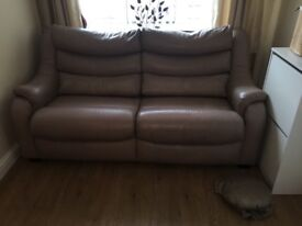 Leather sofa- good condition needs gone today