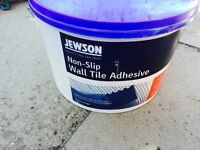Brand new Jewson Non-Slip Tile Adhesive, Extra Large, Shower proof. NO OFFERS (diy,tools)