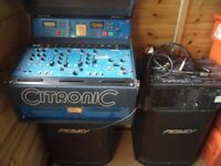 Denon DN2000F LTD CITRONIC DECK, 2 X PEAVEY HIGH SYSTEM 1 XT SPEAKERS, CS 1000X AMP