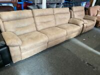 NEW EX DISPLAY LAZYBOY ALEXIA 5 SEATER ELECTRIC RECLINER SOFAS SOFA+ RECLINER XL CHAIR 70%Off RRP
