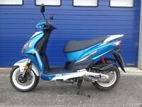 MINT 2016 SYM JET 4 50CC SPORTS MOPED , FSH , LOW MILES AND HPI CLEAR