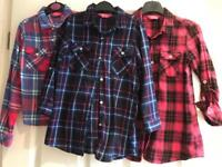 Checked Shirts x3 (age 6-7)