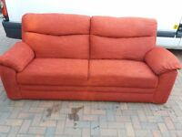 Sofa, couch, settee, fabric 3 seater (free local delivery)