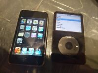 Apple iPod Classic 30GB and iPod Touch 8GB both in excellent condition