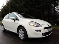 FEBRUARY 2014 FIAT PUNTO EASY 1.2 PETROL WHITE 3DOOR LOW MILEAGE STUNNING EXAMPLE 1YEARS MOT FEB2019