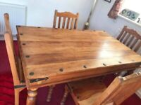 Sheesham Indian Jali Wood, Solid wood, Dining Table and 4 chairs