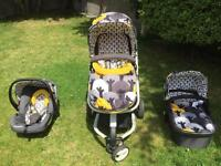 Cosatto Giggle 2 Travel System 3-in-1 Pram, Buggy and Car seat