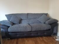 Nearly new sofa suite