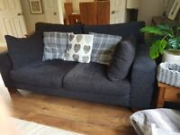 2 x Next grey sofa (both inc in price)