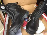 Work boots size 42 U.K. 8 new cheap