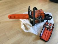 Stihl petrol chain saw ms170 with sharpening tools
