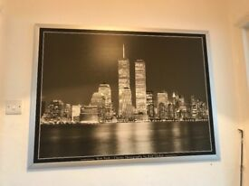 New York skyline framed picture