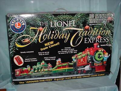 Lionel G Gauge Holiday Tradition Express Christmas Train Under Around Tree Set