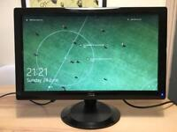 20-inch LCD monitor with in-built speakers