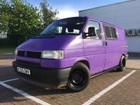 VW Transporter T4 Kombi WV2 Surf Bus Dayvan Camper Purple (SWAP T5.1)