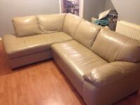 Cousins Corner Sofa. Leather 8 months old. LIKE NEW!! ....£250.