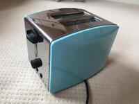 Chrome and Blue Toaster | Excellent Mint Conditon