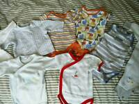 Newborn boy's bundle and 0-3m outfit package