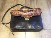Ladies, Etui -real leather, vintage style bag.