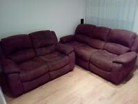3 & 2 seater reclining sofa