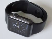 Apple Sport Watch Series 1 38mm Space Grey With All Packaging Including Watch Bag