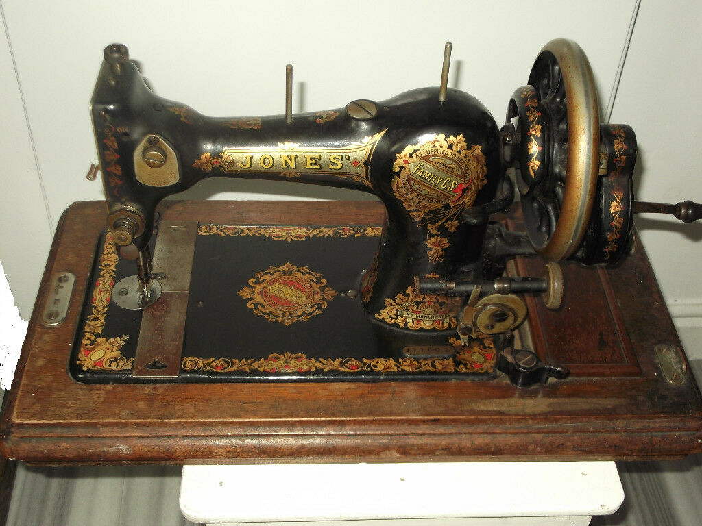 Vintage Hand Operated Jones Sewing Machine As Supplied To Queen