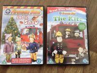 2x Fireman Sam DVDs - Let it Snow, The Kite