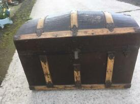 Wooden dome top chest