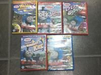 5 Thomas DVDs