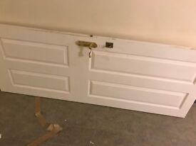 internal fire door with handle and chubb lock