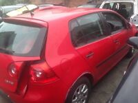 Mk5 VW Golf red and grey colour front rear driver and passenger doors