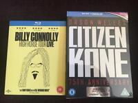 Billy Connolly High Horse & Citizen Cane 75th Ann Blu rays Brand new in cellophane