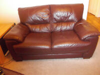Two seater sofa and matching storage footstool