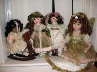 Leonardo Collector's Porcelain Dolls x 4