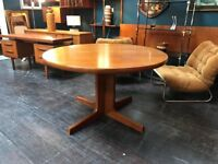 Danish Double Extending Dining Table by Erik Buch. Retro Vintage Mid Century
