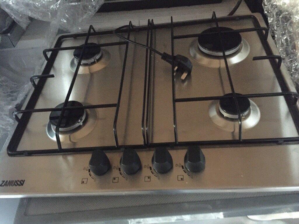 Zanussi Stainless Steel 4 Burner Gas Hob New and Unused