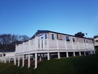 Holiday Home, Sited Static Caravan, three bedrooms, Isle Of Wight. Decking, Sea, Beach