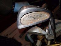 Gold clubs set, approx 11pcs golf clubs