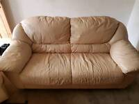 FREE CREAM 2 SEATER SOFA AND 1 CHAIR