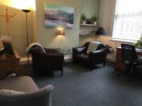 Therapy Room just off Deansgate, Central Manchester. Beautiful large, excellent for talking therapy