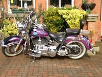 Harley Davidson heritage classic custom paint and loads of chrome