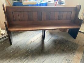 Reclaimed Solid Wood Church Pew Settle Bench