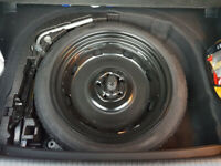 VW GOLF mk7 spare tyre space saver T 125 70 18 (whole set with a jack, a key and polystyrene)