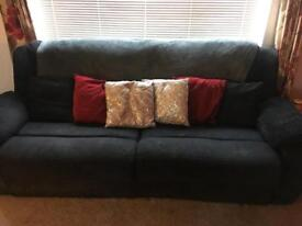 Large 4 seated recliner sofa with chair.