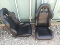 Bucket seats pair