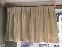 John Lewis Made to Measure Curtains Cream Interlined Pinch Pleat W155x D108cm
